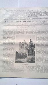 1905 Sdt. Bauzeitung 44 Va Te Faire Cuire Installation-afficher Le Titre D'origine