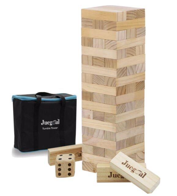 Large Jenga Game Giant Wood Block. Yard Party Pool Play Tower Lawn Board Game