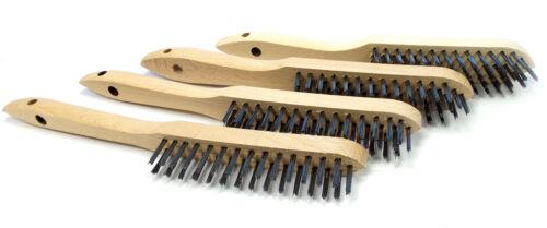 4 Größe Reinigen Simson 5-Reihen breit zum Entrosten Drahtbürste Holzgriff