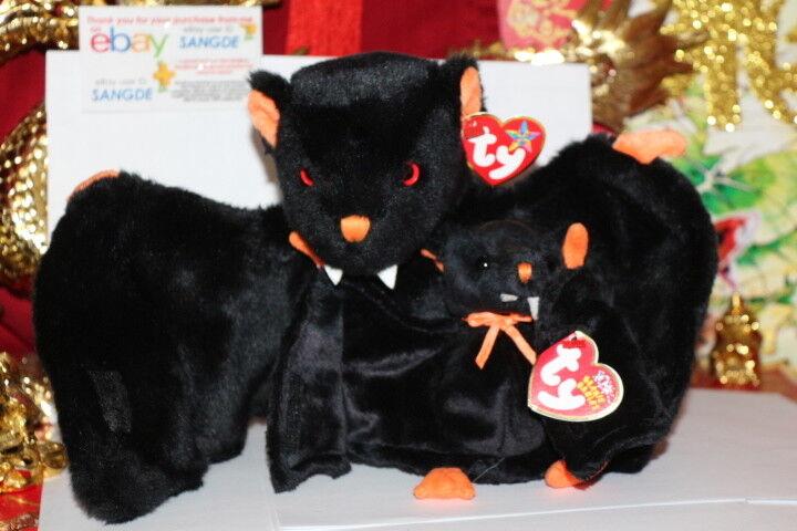 TY BAT-E THE BEANIE BUDDY BABY BATS.2003 4-MWNMT-RETIRED-NICE GIFT