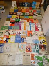 HUGE LOT 100+ Old Vintage Piano Organ Sheet Music Solo Song Books Lesson Theory