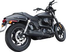 """FireBrand Black Grand Prix 4"""" Slip On Exhaust For Harley XG Street 500 750"""