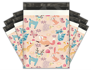 10x13 (100) Woodland Critters Designer Poly Mailers Shipping Envelopes Bags