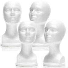 Mn 434 4 Pcs Female Styrofoam Mannequin Head Bust With Partial Shoulder