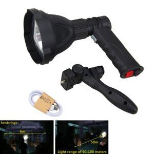 8000LM-XM-L-T6-LED-Luz-de-pistola-110mm-Lente-Linterna-Caza-Monte-Recargable-K