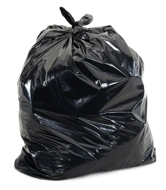 50 Large 55 Gallon Commercial Trash Can Bags Heavy Garbage Duty Yard 1 5 Mil