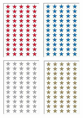 135 Red Coloured Self Adhesive Sticky Stars Reward Stickers Labels
