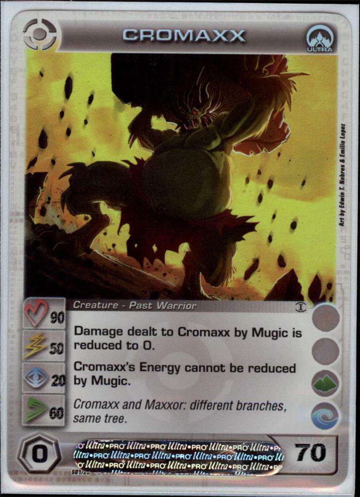 (cc1029) CROMAXX Chaotic Card (Courage 90 Power 50 Wisdom 20 Speed 60 Energy 70)