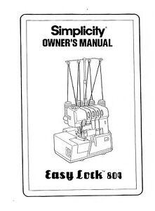 simplicity serger manual