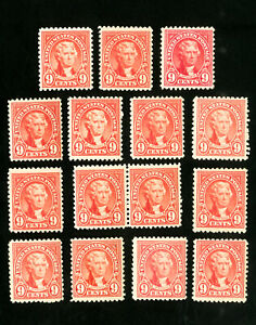 US-Stamps-561-F-VF-Lot-of-15-OG-NH-Scott-Value-375-00