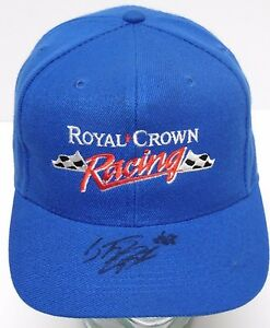 Vtg-1998-STACY-COMPTON-SIGNED-RC-ROYAL-CROWN-RACING-NASCAR-TRUCK-HAT-CASE-COA
