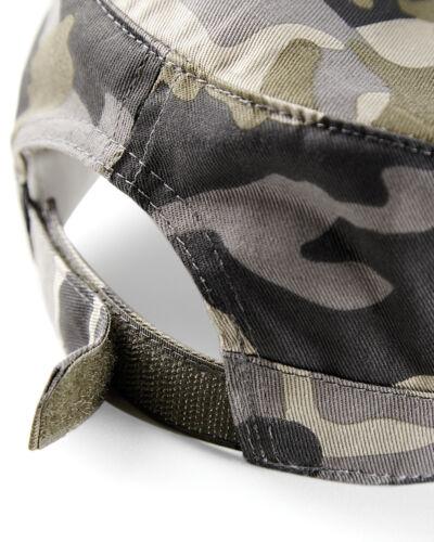 Beechfield Military Cap Camouflage Adults Army Peak Hat Baseball Camo Urban