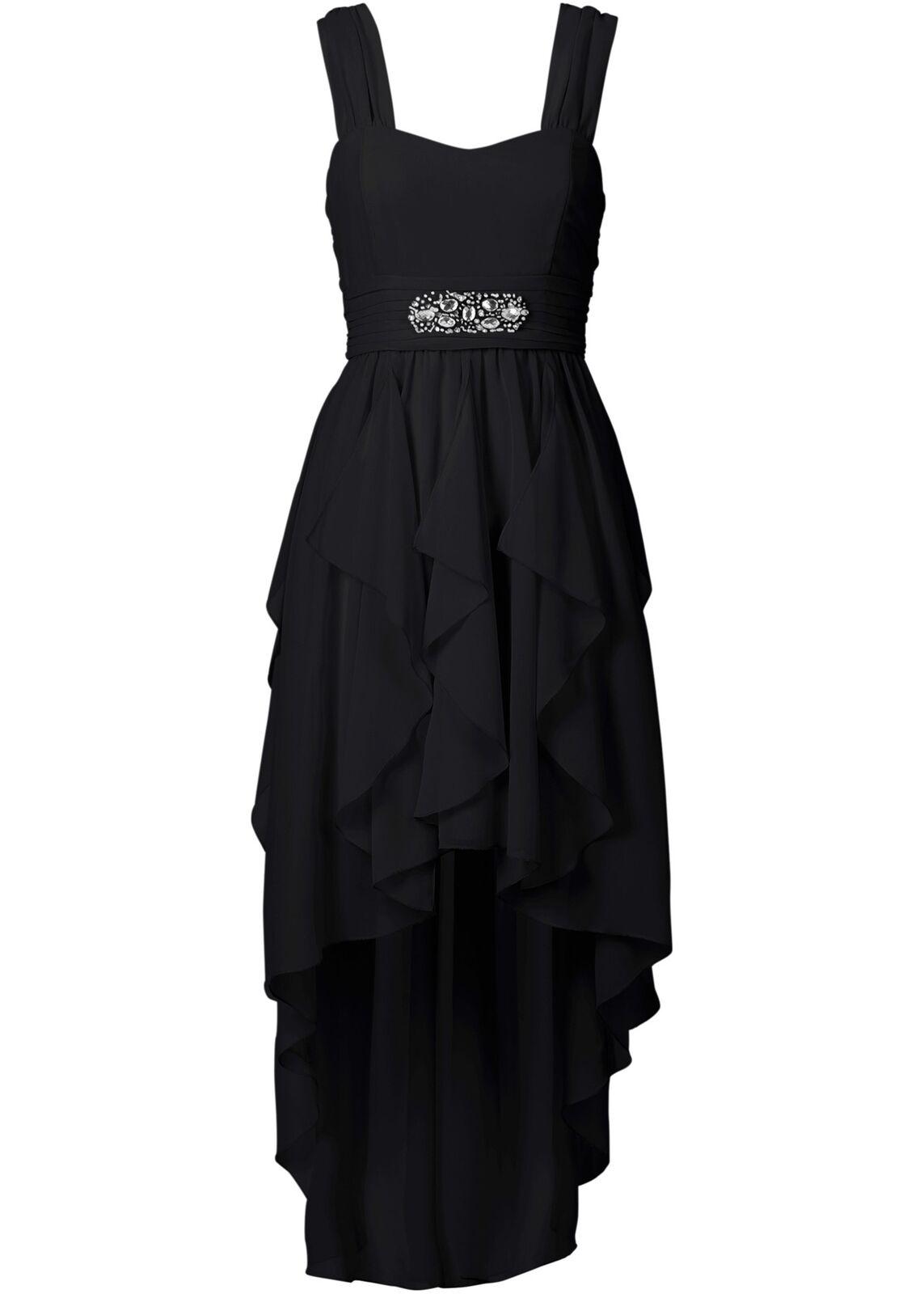 Kleid Gr. 40 Schwarz Abendkleid Cocktailkleid Kurzes Partykleid Eventkleid Neu