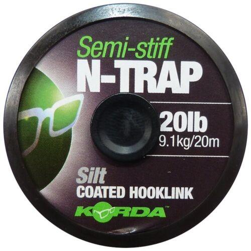 Korda N-Trap Semi Stiff Coated Braid Hooklink