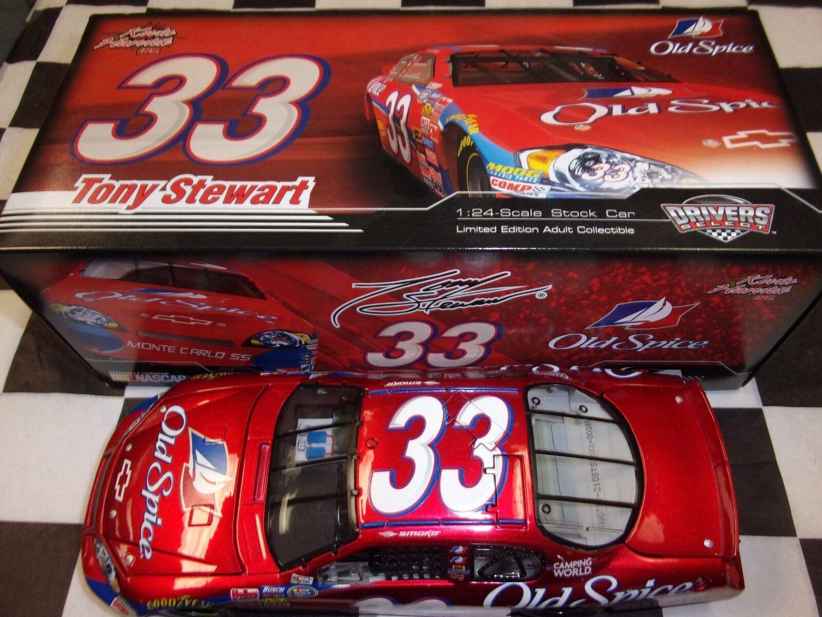 Tony Stewart   33 Old Spice 2007 Monte voiturelo SS Action 1 24 scale voiture B337821OSTS  économiser 50% -75% de réduction