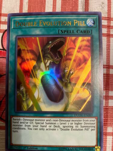 DUOV-EN089 Double Evolution Pill Ultra Rare 1st Edition YuGiOh Card