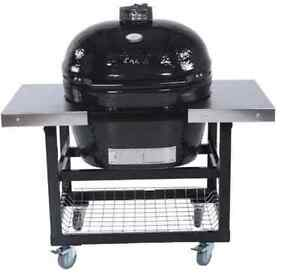 Primo-Xl-400-Ceramic-Charcoal-Smoker-Grill-On-Cart-With-Side-Tables-370