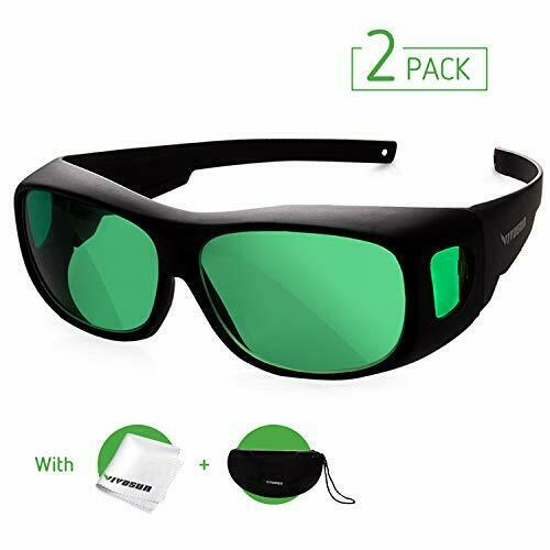 VIVOSUN 2-Pack Indoor Hydroponics LED Grow Room Glasses with Green 2-pack