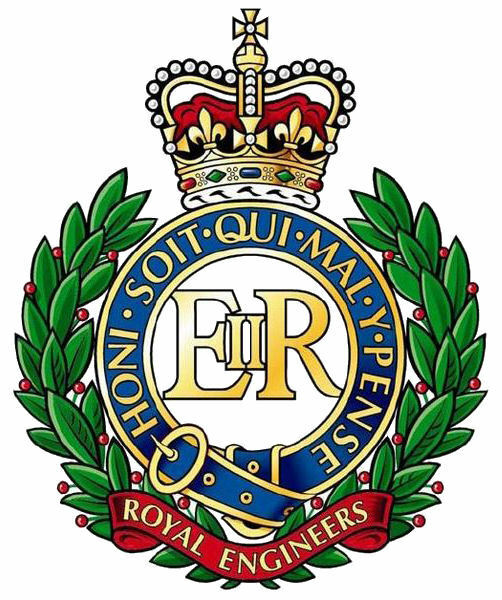 Framed British Military Insignia Print – Royal Engineers (Cap Badge Army Art)