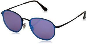 Ray-Ban RB3579N 153 7V Blaze Black Frame Violet Blue Mirror 58mm ... dd8cd33179
