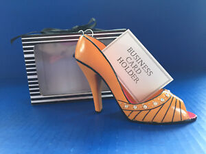 The fabulous shoe business card and pen holder orange 5wx3h image is loading the fabulous shoe business card and pen holder colourmoves