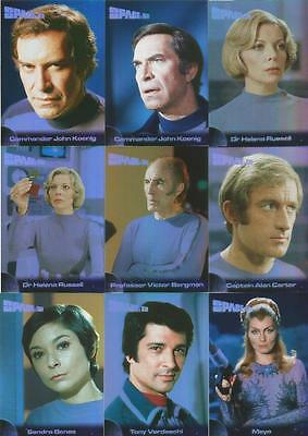Space 1999 Series 1 Mirror Foil Chase Trading Card Set