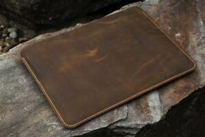 detailed look aa922 9eee5 Details about Handmade genuine Leather macbook sleeve case for macbook pro  air 13 15