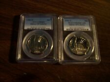 2 PCG GRADED COINS-1986-S PR69&MS69-D--2 COMMEMORATIVE LIBERTY HALF DOLLAR COINS