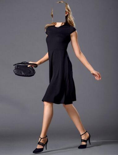 Marken 46 Struktur Aus 44 Gr 42 Jersey Kleid Schwarz 0116967719 p6pBv