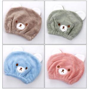 Kids Children Bear Turban Hair Wrap Towel Quickly Bath Spa Dry Hair