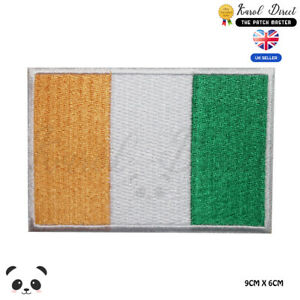 Ireland-National-Flag-Embroidered-Iron-On-Sew-On-Patch-Badge-For-Clothes-etc