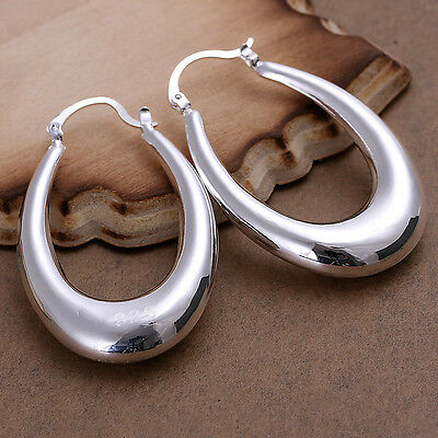 Wholesale Price Solid Silver Jewelry Cool Hollow Solid U Shape Earrings E115