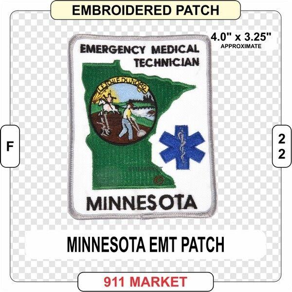 Minnesota Emt Patch Ems Medic Mn State Us Fd Emergency Medical