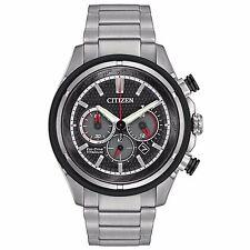 Citizen Eco-Drive Men's CA4240-82E Super Titanium Chronograph Bracelet Watch
