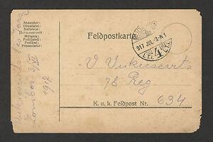 WWI-HUNGARY-GERMANY-AUSTRIA-FELDPOST-POSTCARD-1917