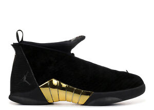 aaa2c545fb6 Nike Air Jordan 15 XV Retro Doernbecher DB Black Gold Size 9. BV7107 ...