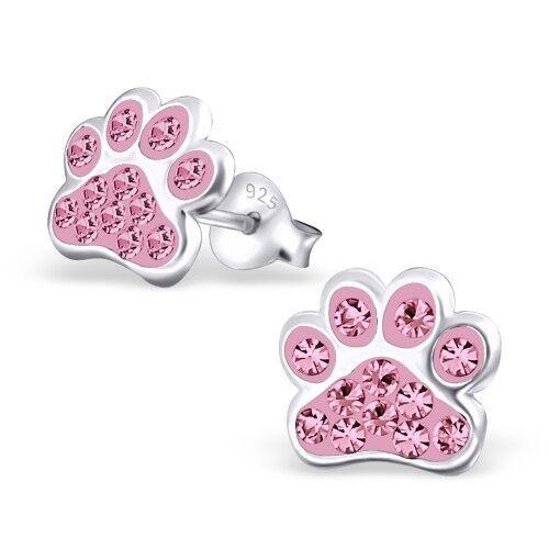 925 sterling silver studs Unicorn earrings butterfly cat dog bee flamingo Kids