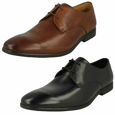 Mens Clarks Bampton Lace Tan Leather Lace Up Shoes G Fitting