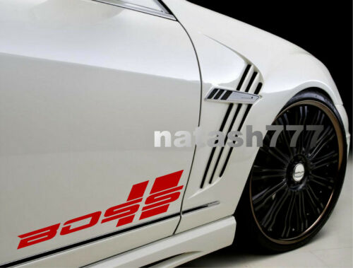BOSS Performance Racing Car Truck SUV Vinyl Decal Sticker Emblem logo 2pcs Pair