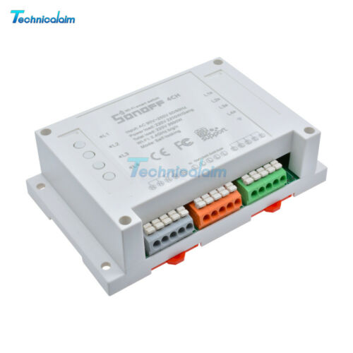 Sonoff Remote Switch 4CH WIFI Home Automation Din Rail Mounting 433Mhz Control