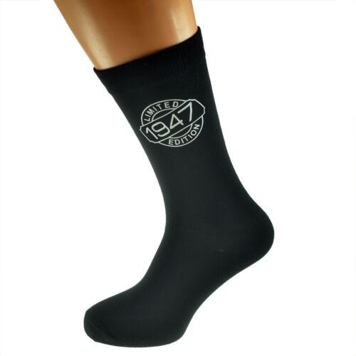 X6N249-1967 Limited Edition 1967 50th Birthday Black Socks UK Size 5-12