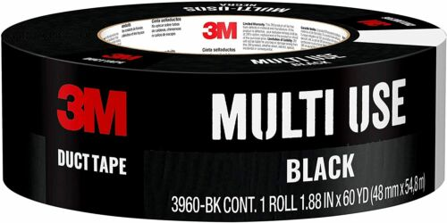1.88 Inches by 60 Yards 1 Black 2 DAY 3960-BK NEW 3M Black Duct Tape