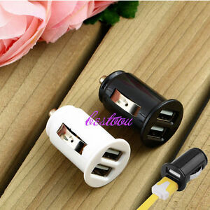 Universal-Twin-Dual-Port-2-USB-12V-In-Car-Socket-Lighter-Charger-Adapter-NWEQJ
