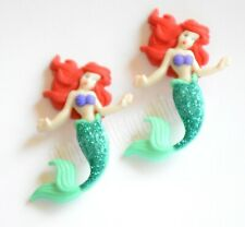 Mermaid Buttons 2 qty Jesse James Buttons  Dress It Up  ARIEL on Her Belly