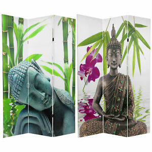 Oriental Furniture 6 ft. Tall Double Sided Serenity Buddha Room Divider