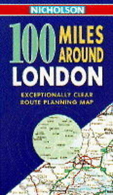 Nicholson 100 Miles Around London by , Map Used Book, Good, FREE & FAST Delivery