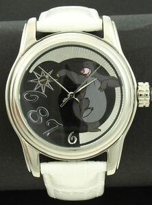 DISNEY-reloj-automatico-con-Balu-el-Oso-motivo-Unisex-Blanco-Correa-de-cuero