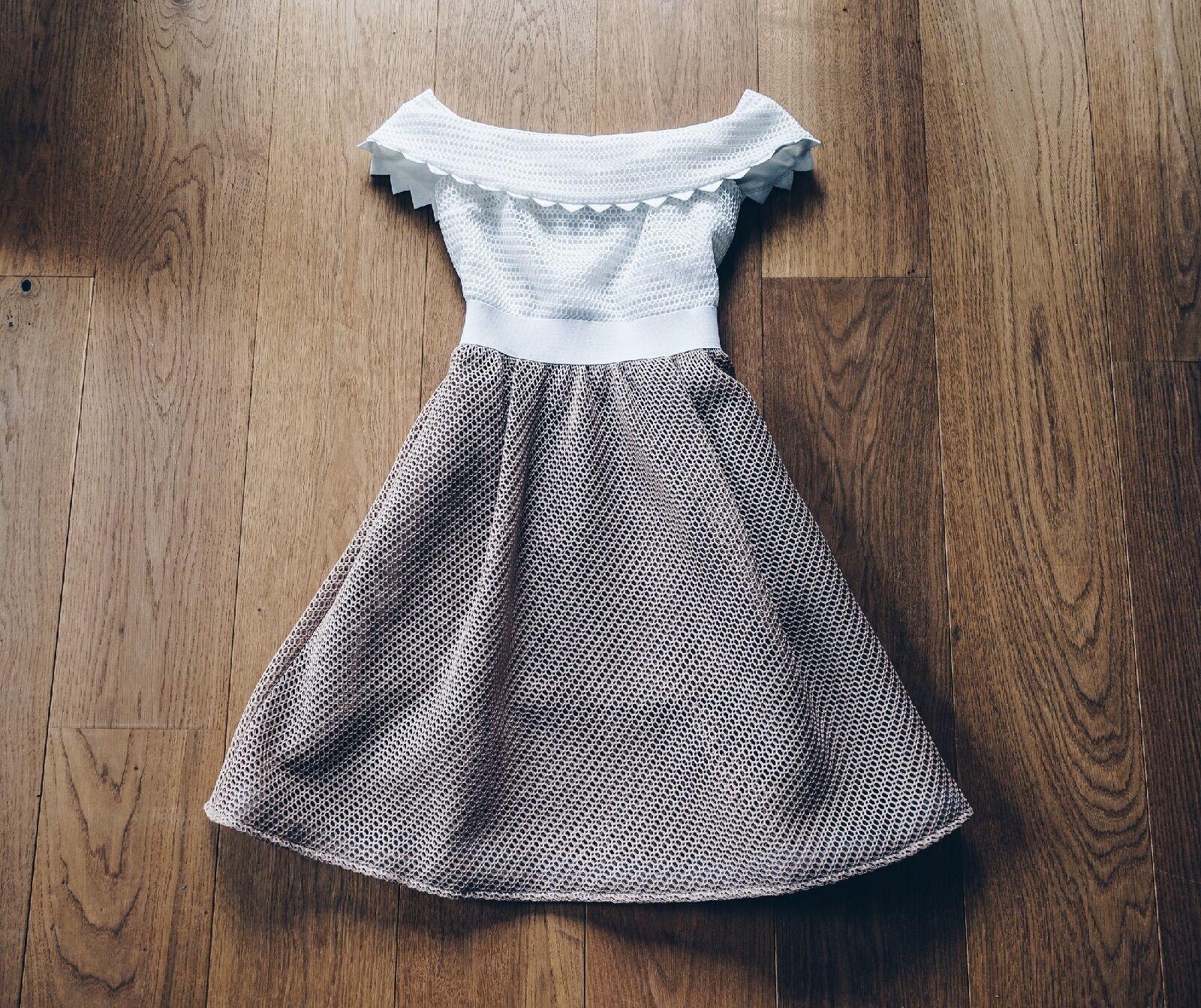 SELF PORTRAIT Off Shoulder Bardot Dress - Size 6