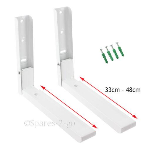 2 x four à micro-ondes blanc DAEWOO titulaire de montage mural parenthèses avec les bras extensible