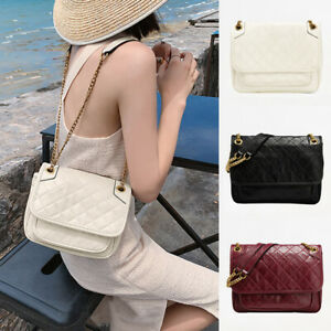 2-Szs-Small-Large-Faux-Leather-Shoulder-Bag-Chain-Purse-Messenger-Hobo-Crossbody